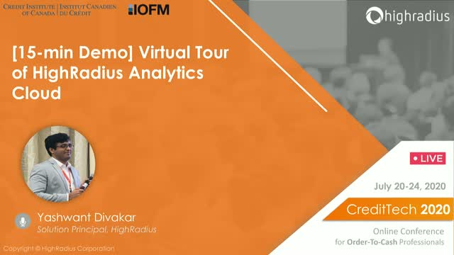 [15-min Demo] Virtual Tour of HighRadius Analytics Cloud