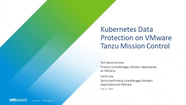 Kubernetes Data Protection on VMware Tanzu Mission Control