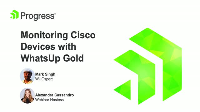 Monitoring Cisco Devices with WhatsUp Gold
