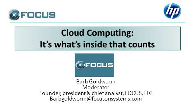 Cloud Computing: It's What's Inside that Counts