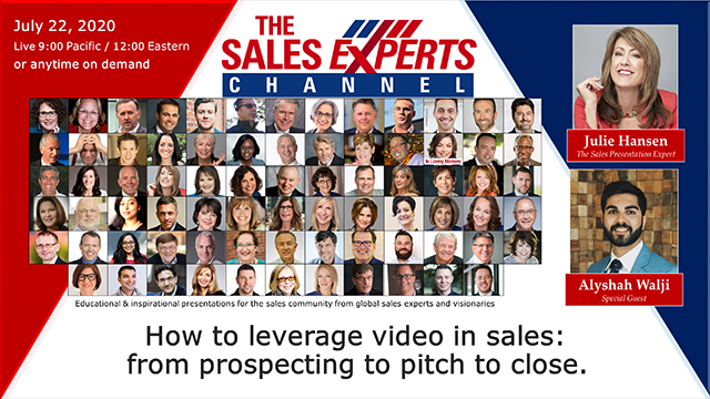 How to leverage video in sales: from prospecting to pitch to close.