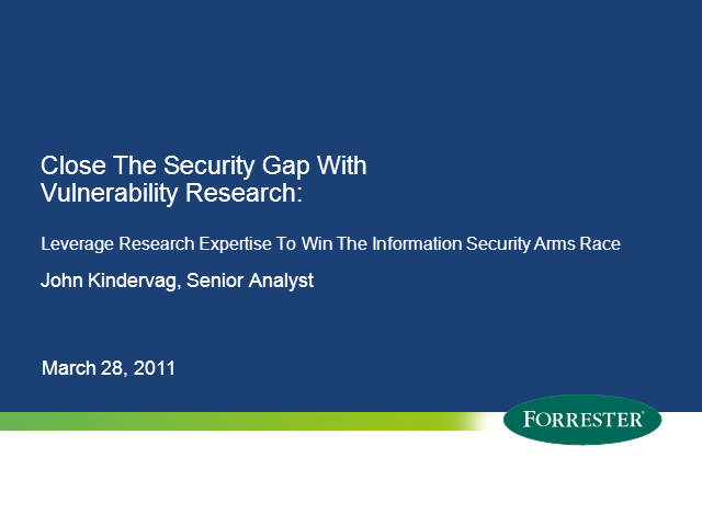 Leveraging Security Intelligence to Win the Information Security Arms Race