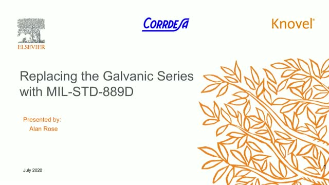 Comply with New Standard of Corrosion Protection: Galvanic Series MIL-STD-889D