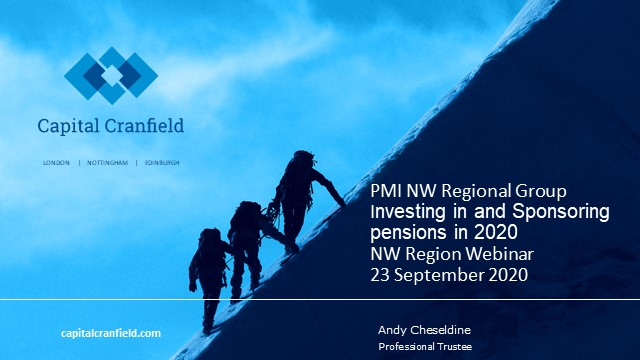 Investing in and sponsoring pensions in 2020; some topical challenges discussed