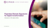 Paperless remote signatures for digital transformation