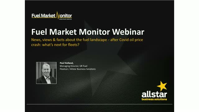 Fuel Market Monitor Webinar: After Covid oil price crash: what's next for fleets
