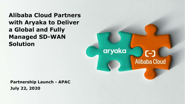 Seamless Cloud Connectivity with Alibaba Cloud and Aryaka