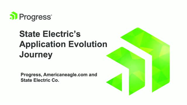 State Electric's Application Evolution Journey