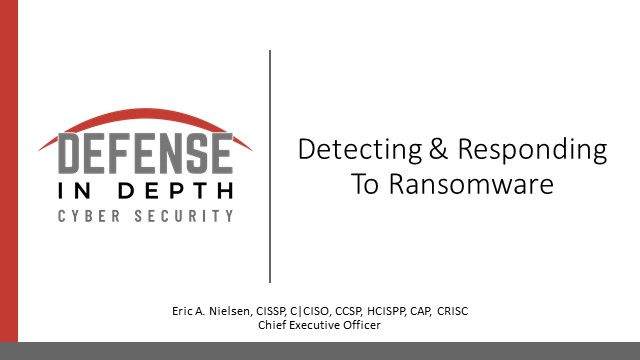 Detecting & Responding To Ransomware