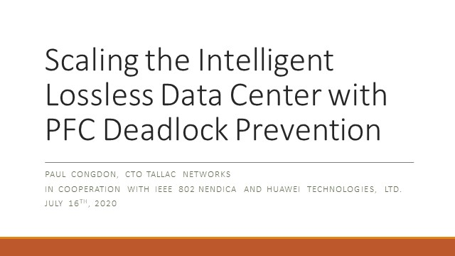 Scaling the Intelligent Lossless Data Center with PFC Deadlock Prevention