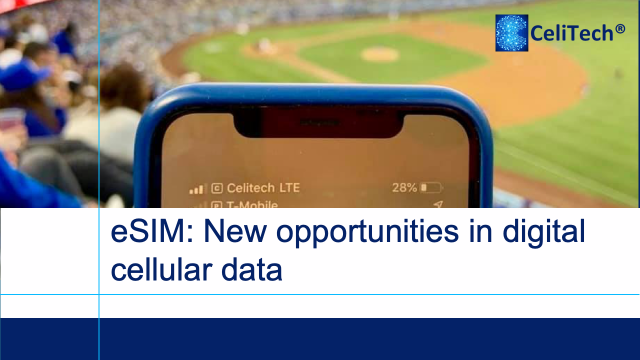 eSIM: new opportunities in digital cellular data