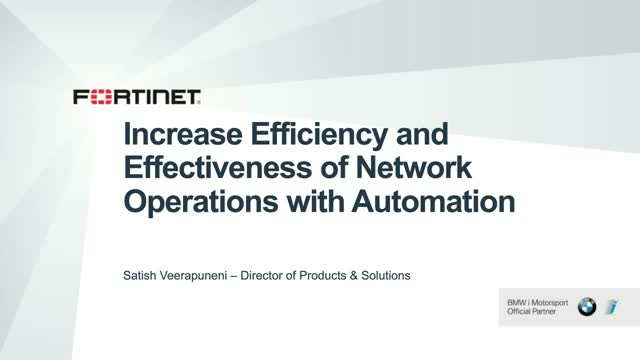 Increase Efficiency and Effectiveness of Network Operations with Automation
