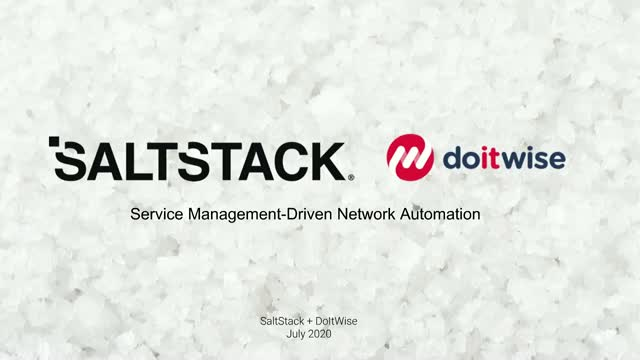 Service Management-Driven Network Automation with SaltStack and Do IT Wise