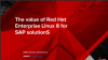 The value of Red Hat Enterprise Linux 8 for SAP solutions