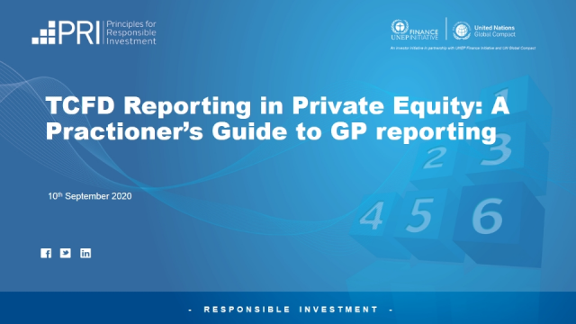 TCFD Reporting in Private Equity: A Practioner's Guide to GP reporting