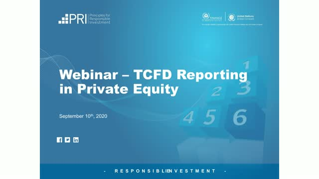 TCFD Reporting in Private Equity: A Practitioner's Guide to GP reporting