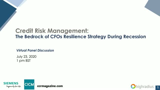 Credit Risk Management: The Bedrock of CFOs Resilience Strategy during Recession