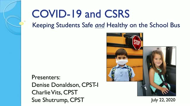 Addressing COVID-19 Child Passenger Safety Challenges on School Buses