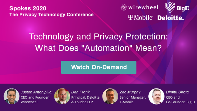 Spokes 2020 Privacy Tech Conference: Technology and Privacy Protection