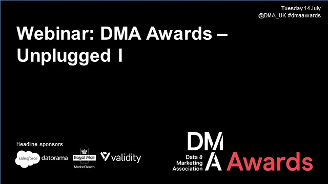 Webinar: DMA Awards - Unplugged I