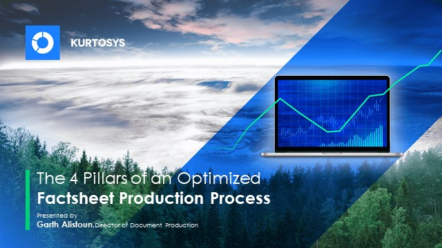 The 4 pillars of an optimised factsheet production process