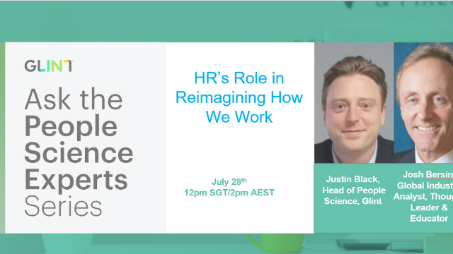 [APAC] Josh Bersin: HR's Role in Reimagining How We Work