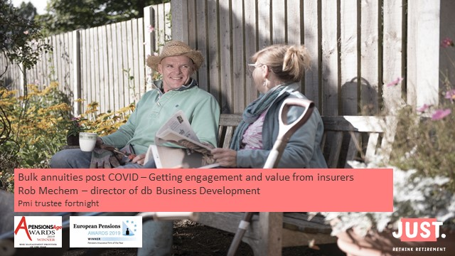 Bulk annuities post COVID – Getting engagement and value from insurers