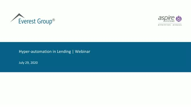 Hyper Automation Lending Framework to Build a Resilient Operating Model