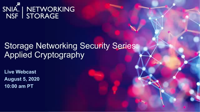Storage Networking Security Series: Applied Cryptography