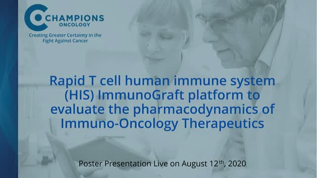 Rapid T Cell Human Immune System ImmunoGraft® Platform to test PD of IOTherapy