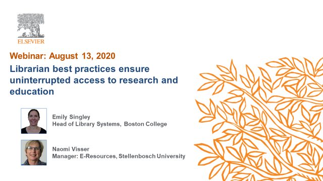 Librarian best practices ensure uninterrupted access to research and education