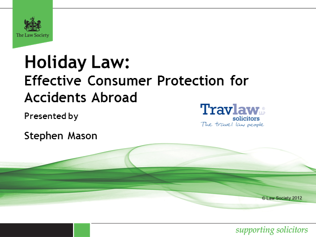 Effective Consumer Protection for Accidents Abroad