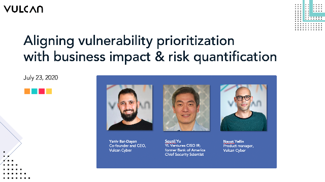 Aligning vulnerability prioritization with business impact & risk quantification