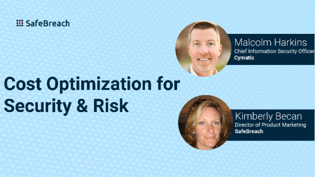 Cost Optimization for Security & Risk
