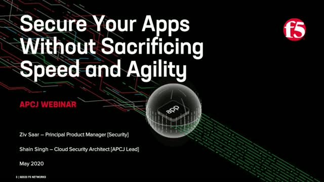 Secure your apps without sacrificing speed and agility