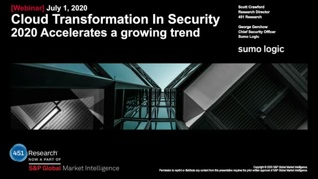 Cloud Transformation in Security