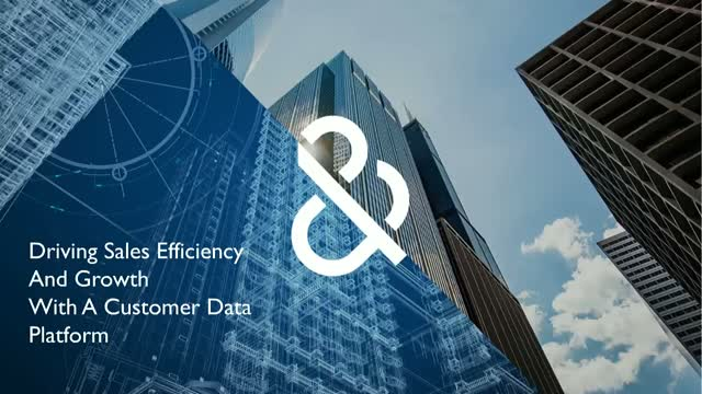How a Customer Data Platform can Drive Sales Efficiency and Growth