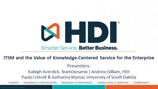 ITSM and the Value of Knowledge-Centered Service for the Enterprise