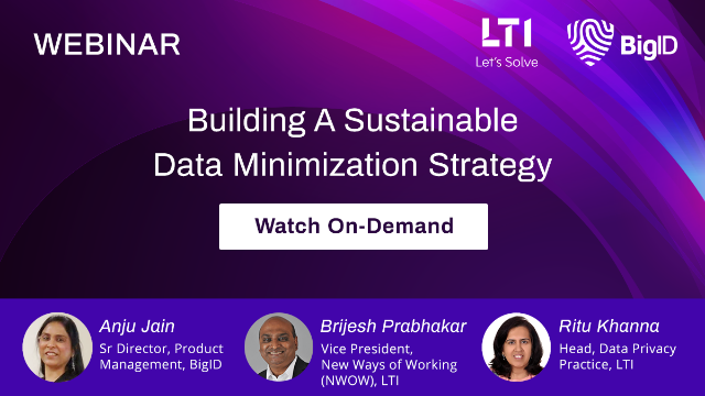 How To Build A Sustainable Data Minimization Strategy