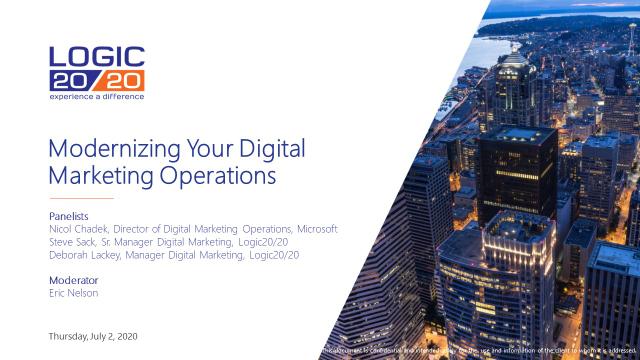 Modernizing Your Digital Marketing Operations