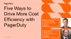 Five Ways to Drive More Cost Efficiency with PagerDuty