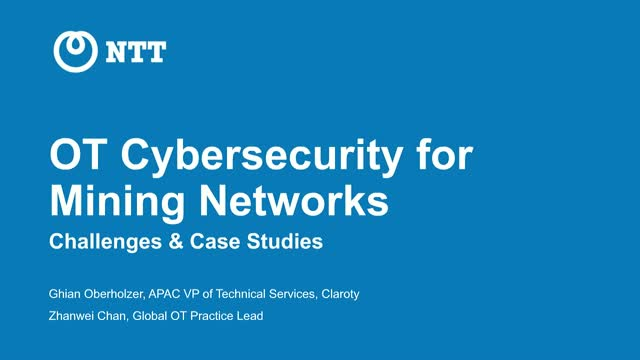 OT Cybersecurity for Mining Networks – Challenges & Case Studies