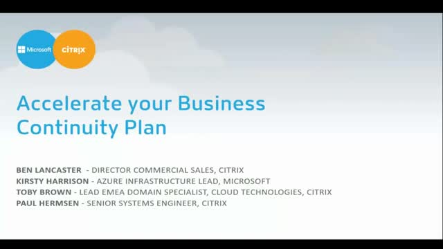 Accelerate your business continuity plan with Citrix + Microsoft