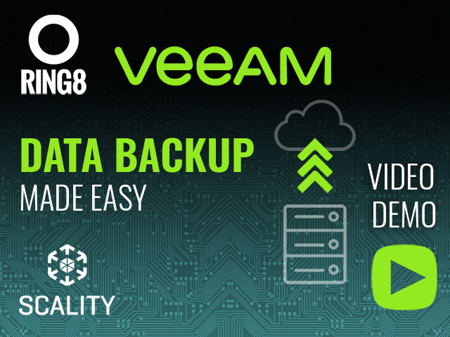 Scality RING8 & VEEAM Demo :  A HIGH-AVAILABILITY SOLUTION FOR ENTERPRISES