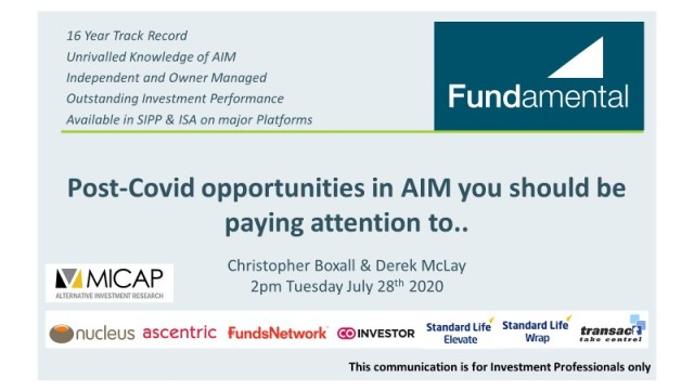Post-Covid opportunities in AIM you should be paying attention to..
