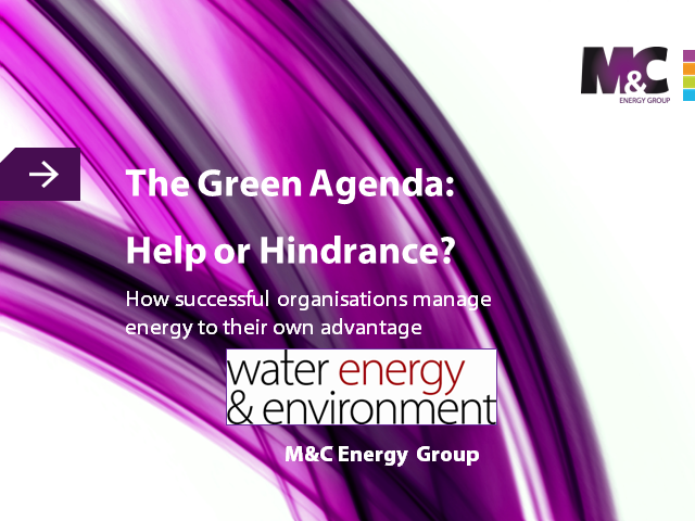 The Green Agenda - Help Or Hindrance?