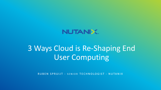 3 Ways the Cloud is Reshaping End User Computing (EUC)