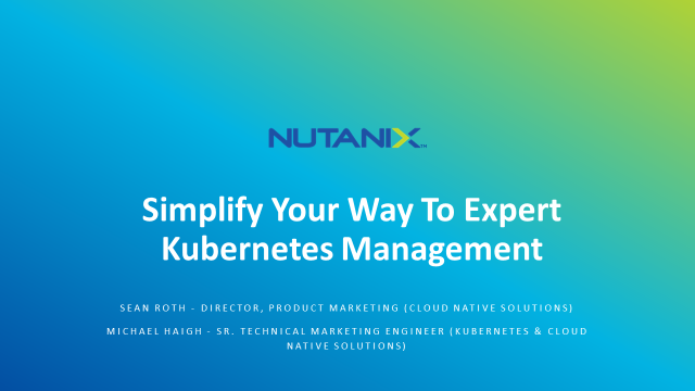 Simplify Your Way To Expert Kubernetes Management