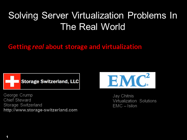 Solving Server Virtualization Problems In The Real World