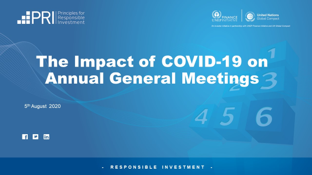 The Impact of COVID-19 on Annual General Meetings